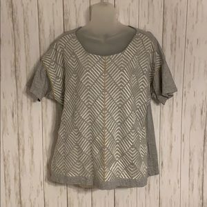 Size XlL J. Crew Embroidered Herringbone T-shirt
